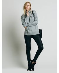Free People | Black Womens Mosshart Zipper Skinny | Lyst