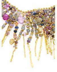 Natasha Collis   Multicolor 18kt Yellow Gold Treasure Necklace   Lyst
