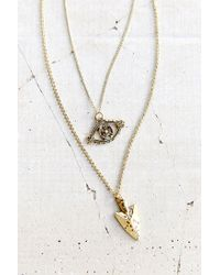 Urban Outfitters - Metallic Talisman Charms Layered Necklace - Lyst