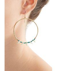 Aurelie Bidermann | Blue Kreolen Squaw Turquoise-pearl Earrings | Lyst