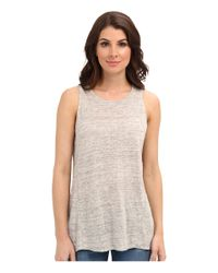 Calvin Klein Jeans | Natural Exposed Seam Tank | Lyst