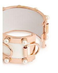 Eddie Borgo - Metallic Pearl D-ring Wide Cuff - Lyst