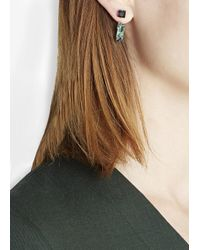 Joomi Lim | Green Swarovski Crystal Rhodium-Plated Earrings | Lyst