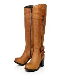Moda In Pelle | Brown Idah Medium Casual Long Boots | Lyst