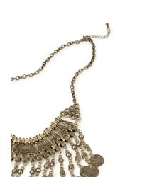 Forever 21 - Metallic Coin Fringe Necklace - Lyst