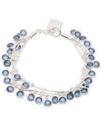 Anne Klein | Silver-tone Blue Stone Shaky Bracelet | Lyst