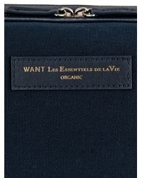 Want Les Essentiels De La Vie - Blue Kenyatta Wash Bag for Men - Lyst