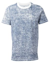 Kris Van Assche | Blue Denim Effect Print T-Shirt for Men | Lyst