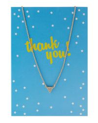Lydell NYC - Metallic Pavé Triangle Pendant Necklace W/ Statement Card - Lyst