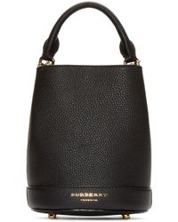 Burberry Prorsum - Black Leather Small Bucket Bag - Lyst