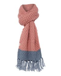 Radley | Pink Lambeth Knitted Block Colour Scarf | Lyst