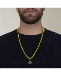 Lulu Frost | Yellow G. Frost Beaded Abundance Pendant for Men | Lyst