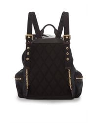 Burberry - Rucksack In Black And Parade Red Technical Nylon And Leather - Lyst