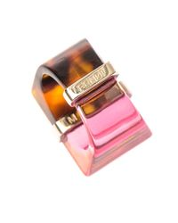 Fendi - Pink Colour-Block Ring - Lyst