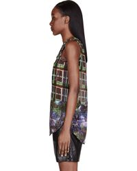 Carven - Blue Printed Tank Top - Lyst