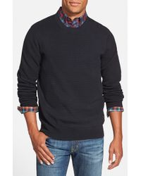 Ben Sherman | Blue Optical Bubble Knit Crewneck Sweater for Men | Lyst
