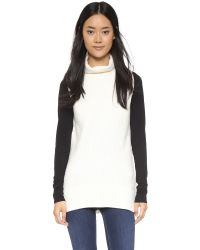 Vince - Black Sleeveless Turtleneck Sweater - Lyst