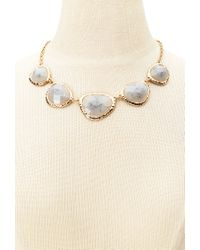 Forever 21 | Gray Faux Gemstone Statement Necklace | Lyst