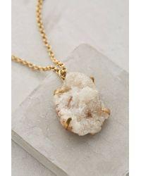 Anthropologie | Metallic Druzy Dreamworld Pendant Necklace | Lyst
