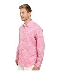 Robert Graham - Pink Chiefdom Long Sleeve Woven Shirt for Men - Lyst