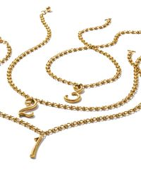 Lulu Frost - Metallic Plaza Number Necklace - Lyst