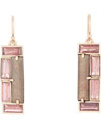 Nak Armstrong - Metallic Mosaic Drop Earrings - Lyst