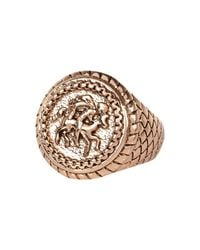 River Island | Metallic Rose Gold Tone Sovereign Ring for Men | Lyst