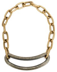Tomas Maier | Metallic Curvy Piece Link Chain Necklace | Lyst