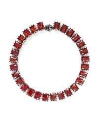Eddie Borgo - Red Large Rectangle Estate Cubic Zirconia Bracelet - Lyst