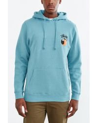 Stussy - Blue Yin-yang 8-ball Pullover Hooded Sweatshirt for Men - Lyst