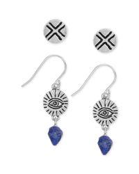 The Sak - Blue Tone Lapis Stone Earring Set - Lyst