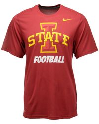 Nike - Orange Men's Iowa State Cyclones Legend Logo T-shirt for Men - Lyst