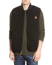 Obey | Black 'turnpike' Reversible Vest for Men | Lyst