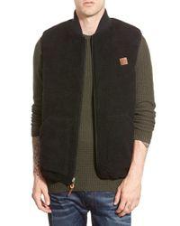 Obey - Black 'turnpike' Reversible Vest for Men - Lyst