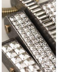 Lanvin   Metallic Embellished Necklace   Lyst