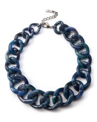 Jaeger - Blue : Chunky Resin Chain Necklace - Lyst