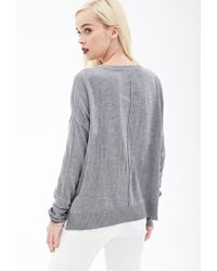Forever 21 - Gray Inverted Seam Knit Sweater - Lyst