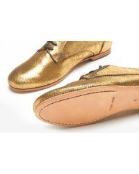 Rachel Comey | Metallic Novak Oxfords - Distressed Gold | Lyst