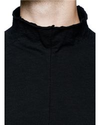 The Viridi-anne - Black Fannel Neck Jersey T-shirt for Men - Lyst