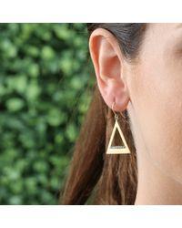 Jemma Wynne - Metallic Triangle Earrings With Diamond Pave - Lyst