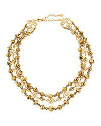 Jose & Maria Barrera | Metallic Two-tone Triple-row Collar Necklace | Lyst