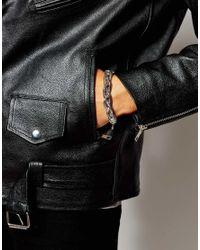 ASOS - Metallic Twisted Chain Bracelet In Silver for Men - Lyst