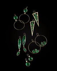 Lana Jewelry - Envy Green Onyx Hoop Drop Earrings - Lyst