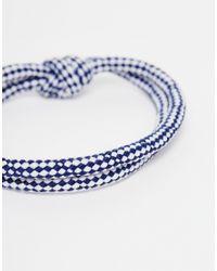 Icon Brand - Blue Hook Line Bracelet for Men - Lyst