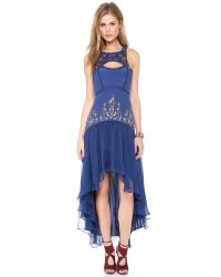 Free People | Blue Dream Gardens Dress | Lyst