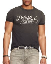 Polo Ralph Lauren | Black Jersey Logo T-shirt for Men | Lyst