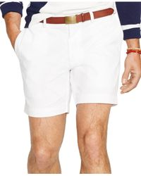 "Polo Ralph Lauren | White Classic-fit 6"" Chino Shorts for Men 