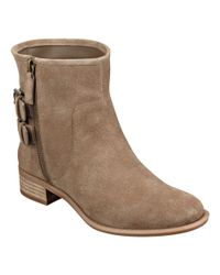 Nine West - Natural Justthis Round Toe Booties - Lyst