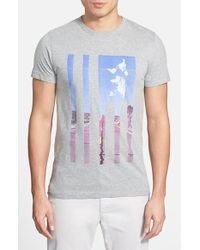 French Connection | Gray 'Highway Usa' Graphic T-Shirt for Men | Lyst
