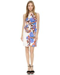 Monique Lhuillier - White Sleeveless Dress - Lyst